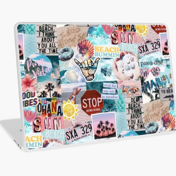 Summer Break Collage Laptop Skin