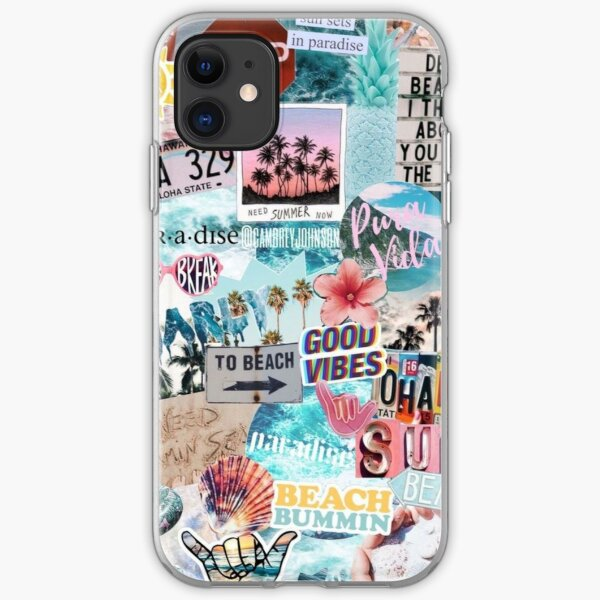 Summer Break Collage iPhone Soft Case