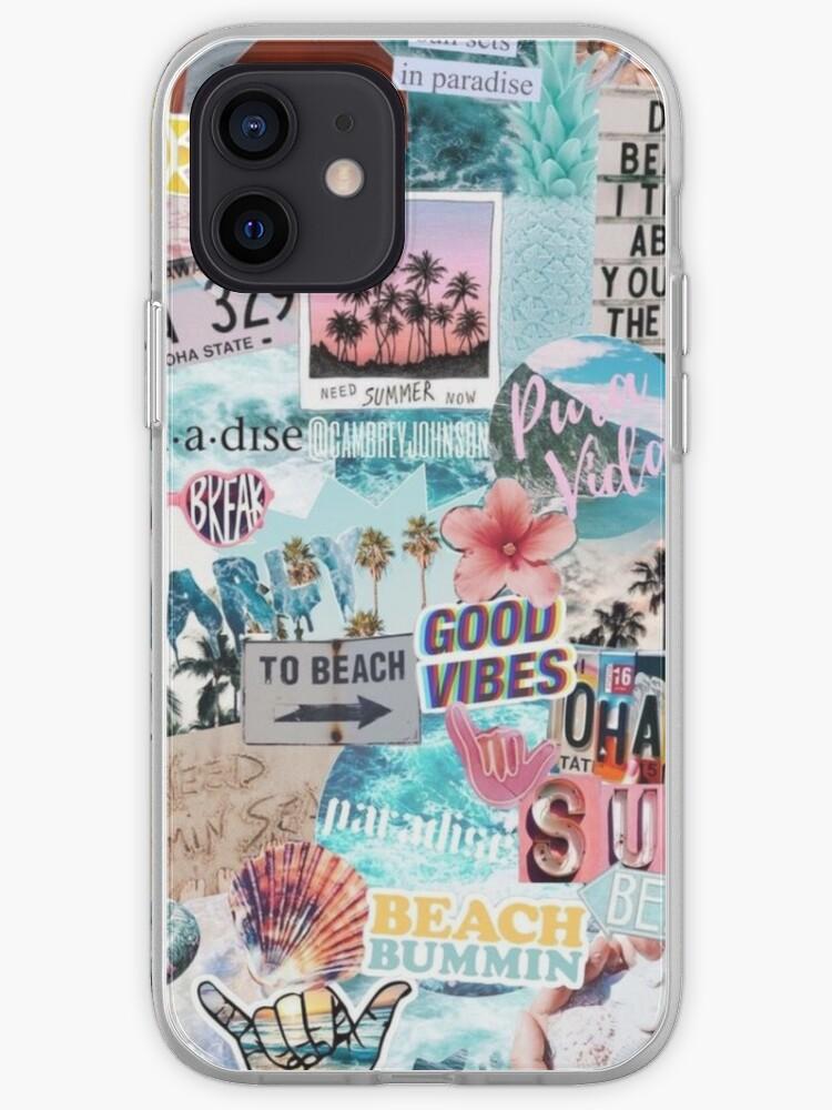 Collage de vacances d'été | Coque iPhone
