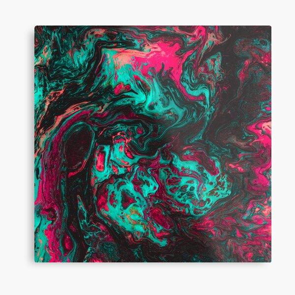 Liquid Flow Metal Print