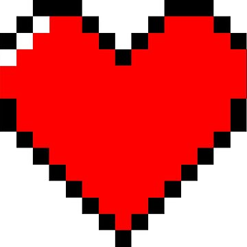 Red pixel heart by Anteia