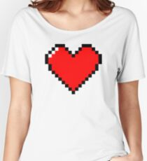 Red pixel heart Women's Relaxed Fit T-Shirt