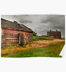 Barns in the prairies Poster