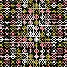 Geometrische Spitze - Rosa auf Salbei von Cat Coquillette