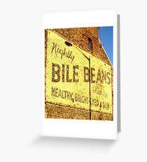 """Buy Bile Beans!"" Greeting Card"
