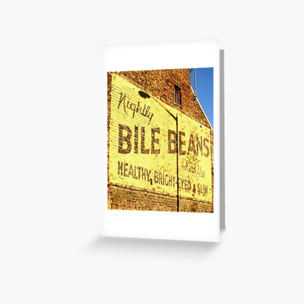 """""""Buy Bile Beans!"""" Grußkarte"""
