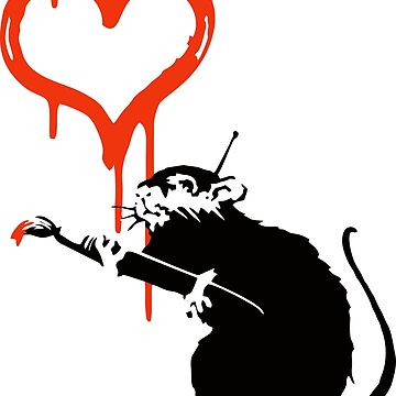 Banksy Love Rat by furioso