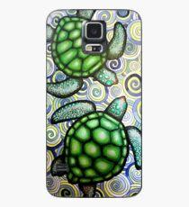 Turtle Tide in Spirals Case/Skin for Samsung Galaxy