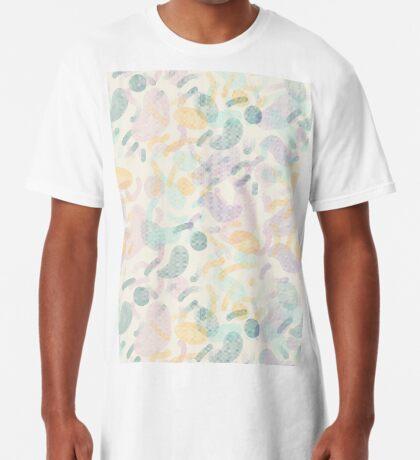 Dotted Blobs #redbubble #abstractart Long T-Shirt