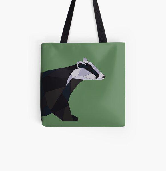 Geometric Badger All Over Print Tote Bag