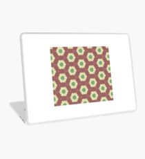 White and Green Flowers Laptop Skin