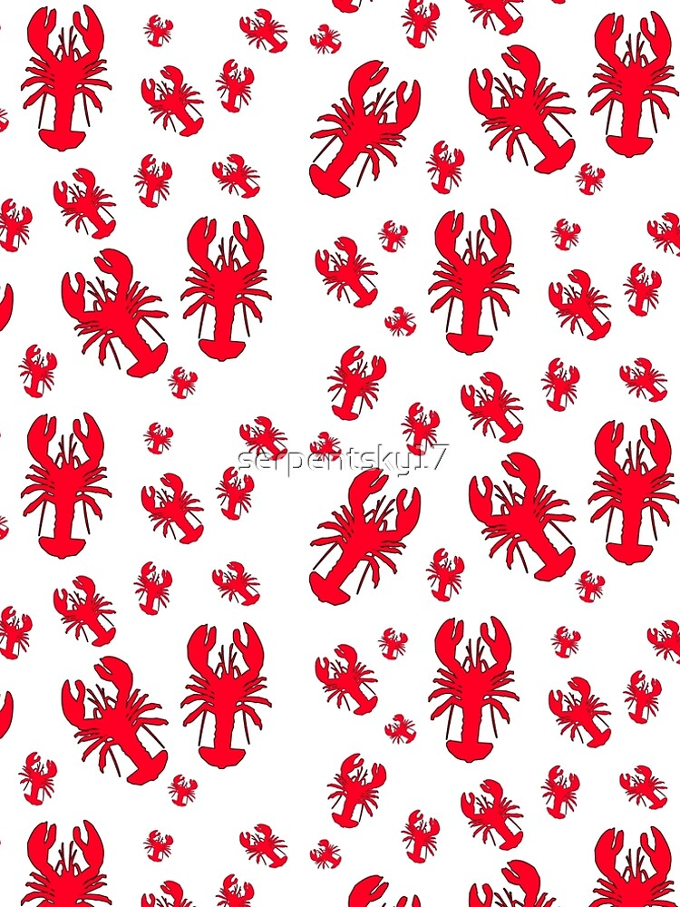 All Over Lobster Print by serpentsky17