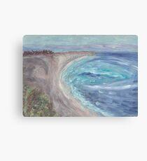 Black See Seaside  Canvas Print