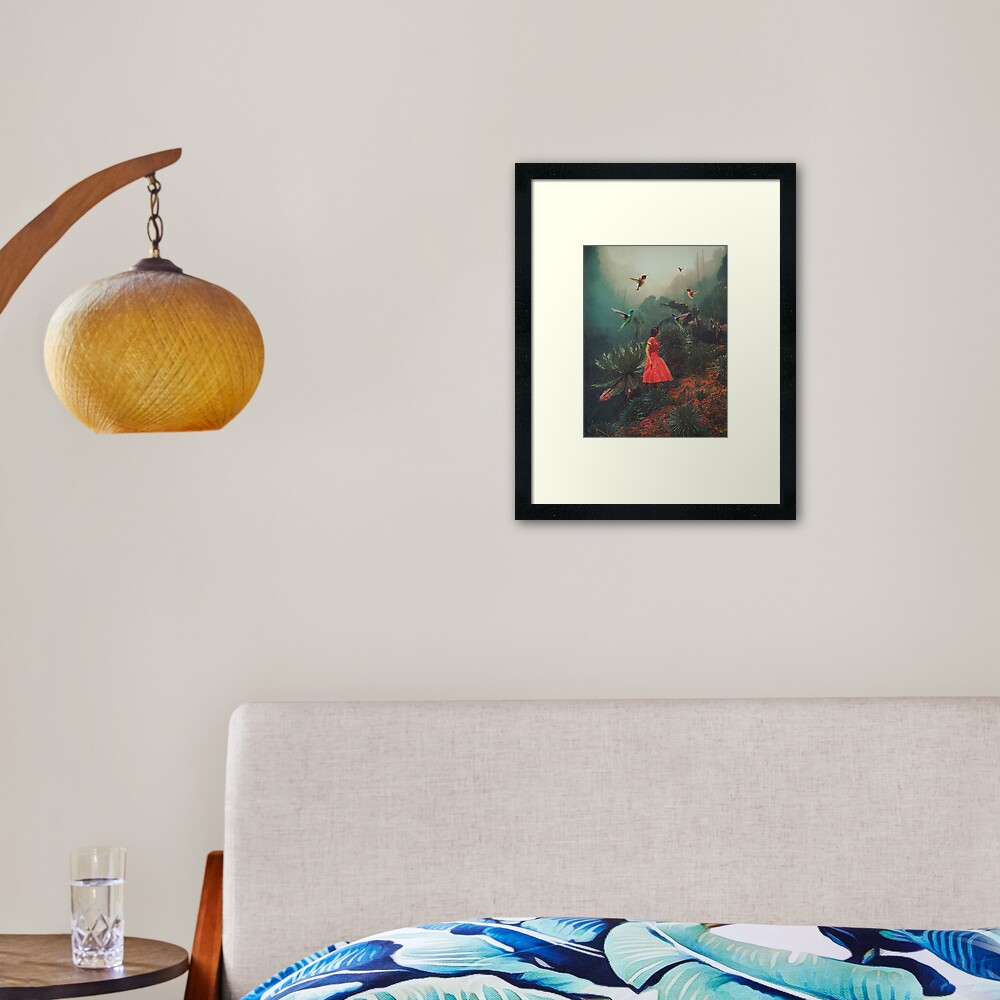20 Seconds before the Rain Framed Art Print