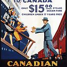 Vintage Canada Pacific Steamships Travel Vacation Holiday Advertisement Art Poster by jnniepce
