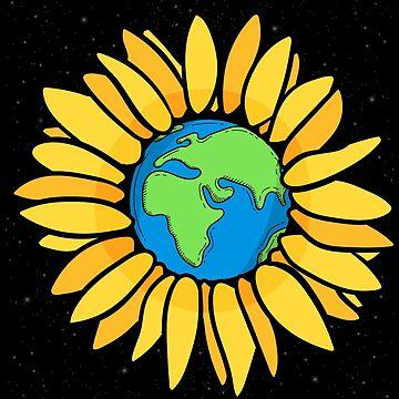 Sunflower planet by GeschenkIdee