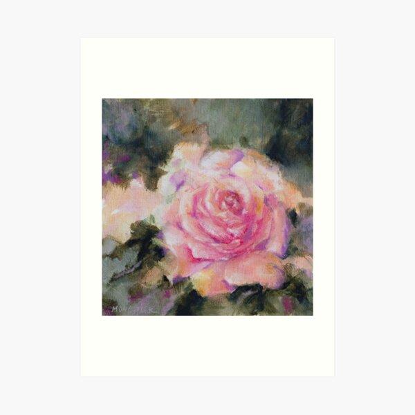 Rose romantique Impression artistique