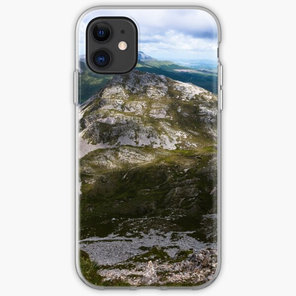 View from the summit of Mount Errigal in the range of Derryveagh Mountains in Glenveagh national park, Donegal, Ireland. iPhone Soft Case