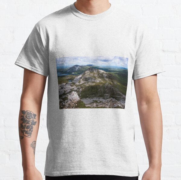 View from the summit of Mount Errigal in the range of Derryveagh Mountains in Glenveagh national park, Donegal, Ireland. Classic T-Shirt
