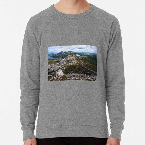 View from the summit of Mount Errigal in the range of Derryveagh Mountains in Glenveagh national park, Donegal, Ireland. Lightweight Sweatshirt