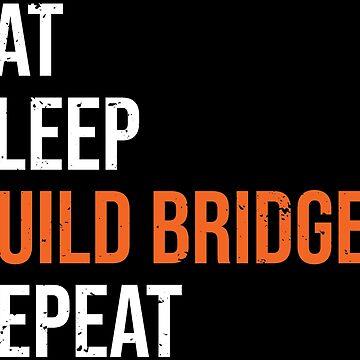 Eat Sleep Build Bridges Civil Engineer T-shirt by zcecmza