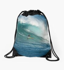 Waimea Bay Hawaii Drawstring Bag