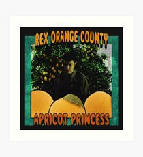 Apricot Princess Art Print
