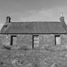 Cottage at Loch Meallbrodden, Mono I. by YvonneHair