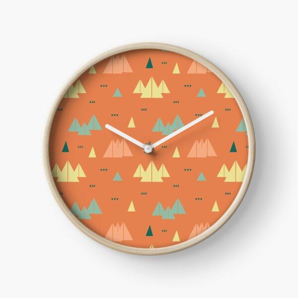 abstrakte Berge Uhr