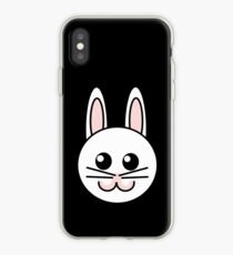 Cute funny bunny iPhone Case