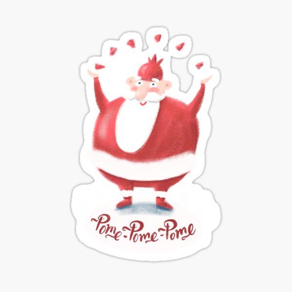 Santa Pomegranate  Sticker
