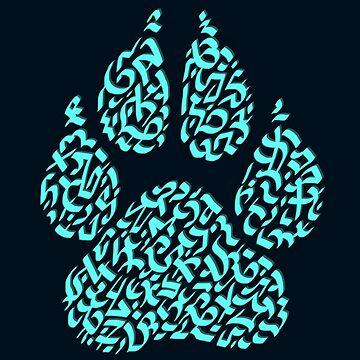 The Wolf, Animal Paw Print by Karotene
