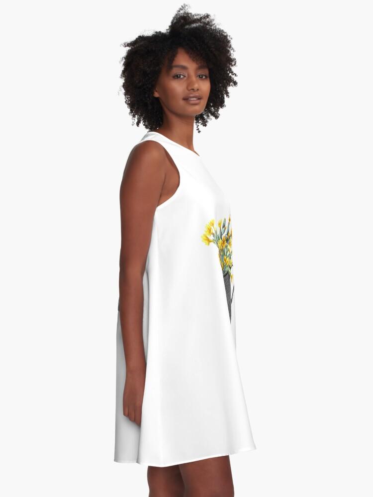 Alternate view of Mug with primulas A-Line Dress