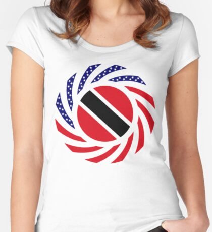 Trinidadian American Multinational Patriot Flag Series Fitted Scoop T-Shirt