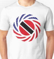 Trinidadian American Multinational Patriot Flag Series Unisex T-Shirt