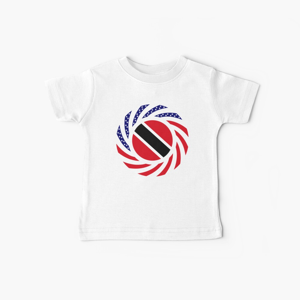 Trinidadian American Multinational Patriot Flag Series Baby T-Shirt