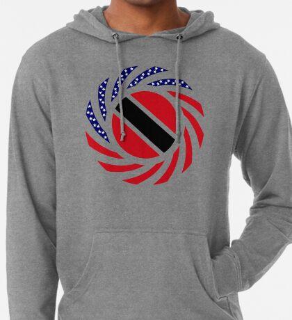 Trinidadian American Multinational Patriot Flag Series Lightweight Hoodie