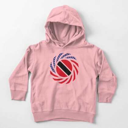 Trinidadian American Multinational Patriot Flag Series Toddler Pullover Hoodie