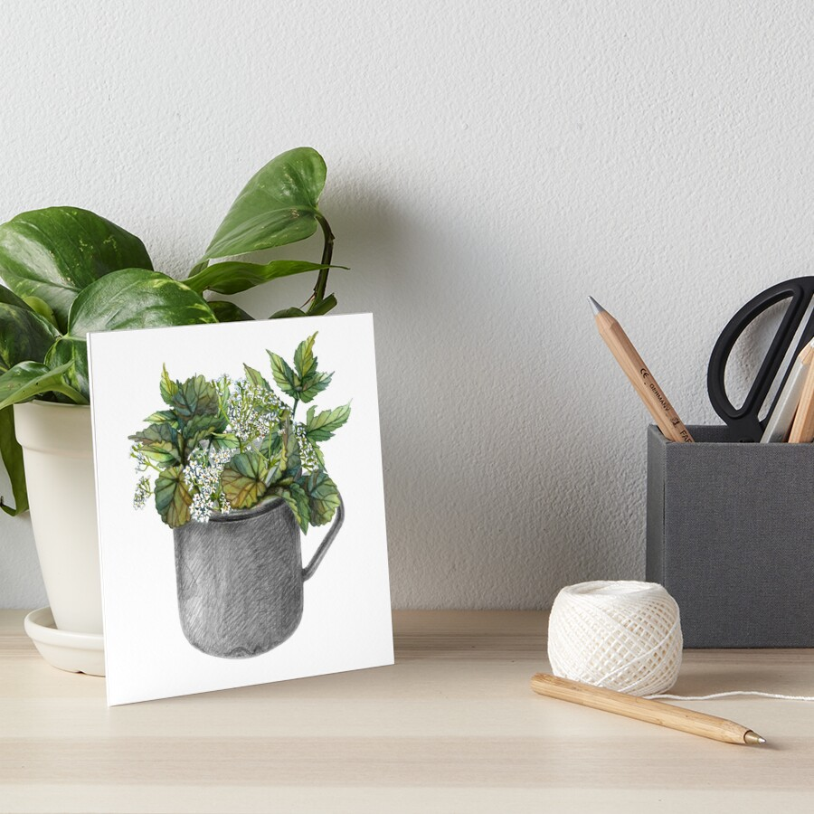 Mug with green forest growth Art Board Print