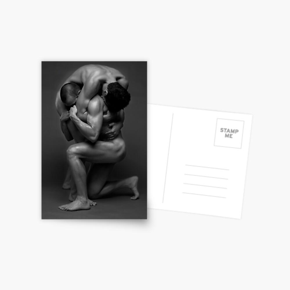 Two muscled men fine art Postcard