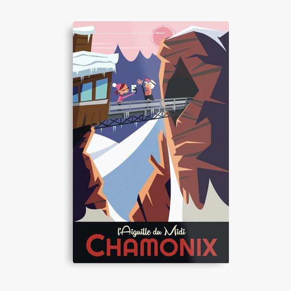 Chamonix l'Aiguille du Midi poster Metal Print