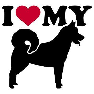 I love my Greenland Dog by Designzz
