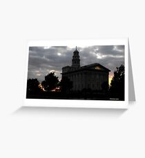 Nauvoo illinois temple gifts merchandise redbubble sunset behind nauvoo temple nauvoo illinois usa greeting card m4hsunfo