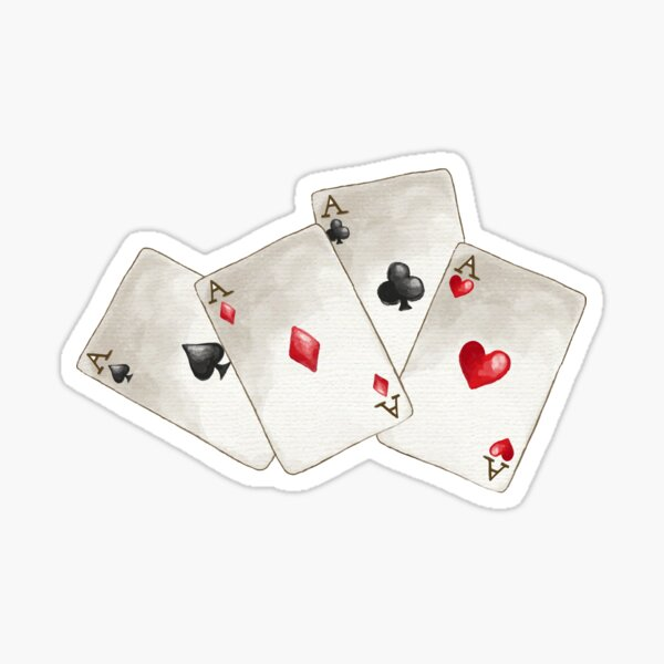 Four of A Kind Aces Nevada Day Sticker