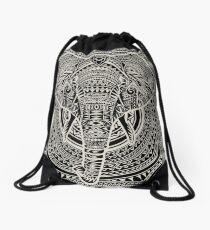 POLYNESIAN ELEPHANT Drawstring Bag