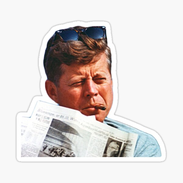 John F. Kennedy with the Cigar Sticker