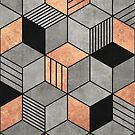 Concrete and Copper Cubes 2 by Zoltan Ratko
