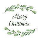 Frohe Weihnachten mit Aquarellgrün von blursbyai