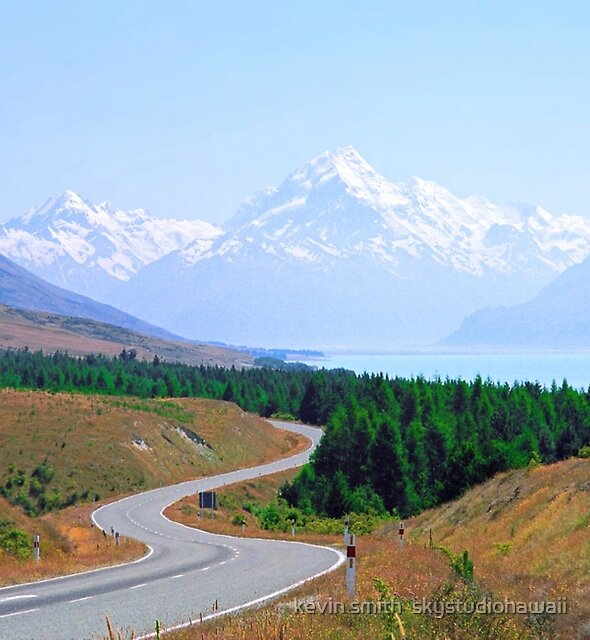 Mount Cook Highway by kevin smith  skystudiohawaii