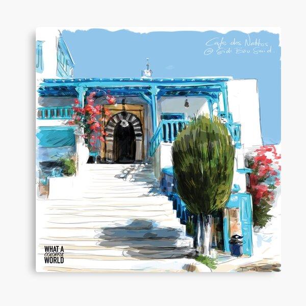 Die Schritte von Cafe des Nattes, Tunesien T-Shirt, Poster und Geschenke Leinwanddruck